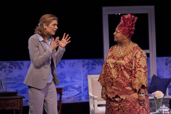 "Gretchen Egolf and Myra Lucretia Taylor in ""Going to St. Ives"" @ Barrington Stage Company (photos by Scott Barrow)"