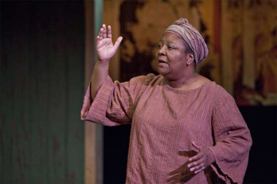 "Myra Lucretia Taylor in ""Going To St. Ives"" @ Barrington Stage Company. (Photo by Scott Barrow)"