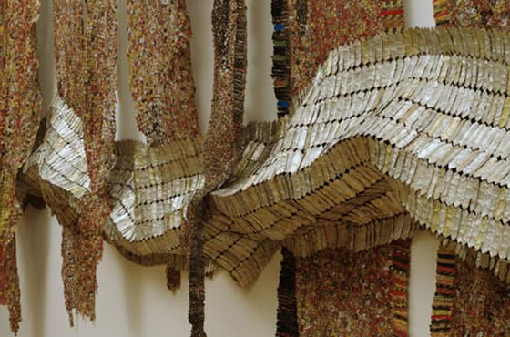 El Anatsui: Strips of Earth's Skin @ The Clark Art Institute