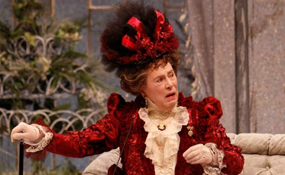 Brian Bedford as Lady Bracknell in The Importance of Being Earnest (photo by David Hou)