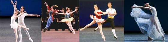 All Balanchine: (from left) Square Dance, Stars and Stripes, Tarantella and Serenade