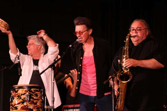 And the All-Star Jam: Sarge Blotto, Johnny Rabb and Tom D'Ambrose (photo by Stanley Johnson)