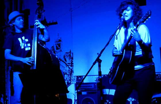 Holly & Evan performing at the Putnam Den in Saratoga Springs last month (photo by Joel Patterson)