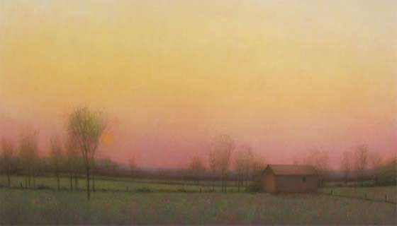 Mary Sipp Green: Sundown at Wesley's Farm