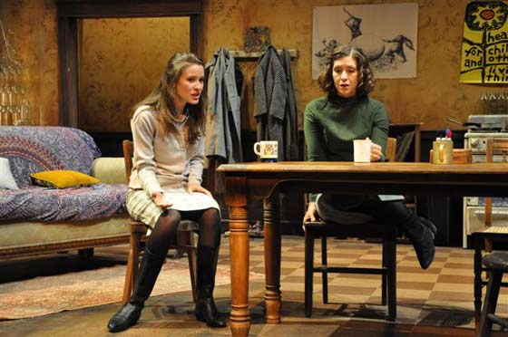 Moonchildren: Kathy (Norma Kuhling) and Ruth (Miriam Silverman) discuss life and men over coffee (photo: Jaime Davidson)