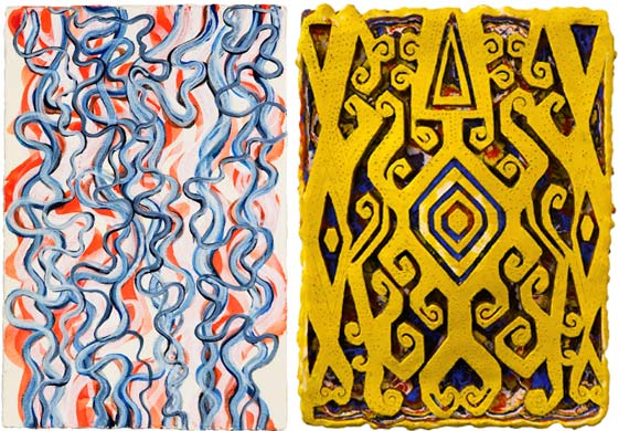 Bill Pangburn: Linear Flow and Renee Magnanti: Reformed Ikat (Yellow) @ BCB Art