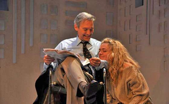 David Adkins and Rachel Bay Jones in BTF's production of Sylvia (photo: Jaime Davidson)