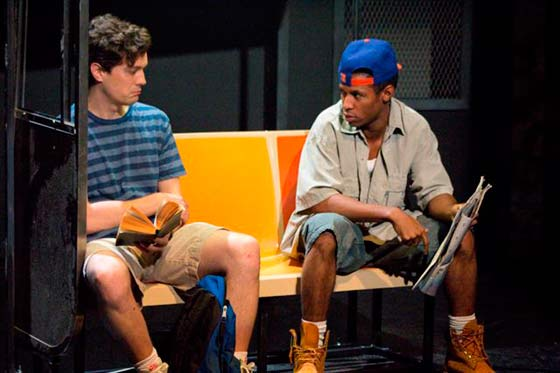 "Steve (Christian Coulson) and Eric (Amari Cheatom) meet on the New York subway on a summer's day in 1992 in ""Dutch Masters."" (photo: Christy Wright)"