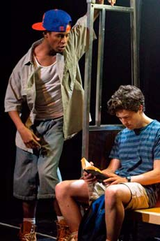 Amari Cheatom (Eric-L) and Christian Coulson (Steve-R). (photo: Christy Wright)