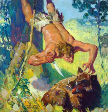 Lawrence Herridon: Blue Book Tarzan, Guard of the Jungle @ Mandeville Gallery