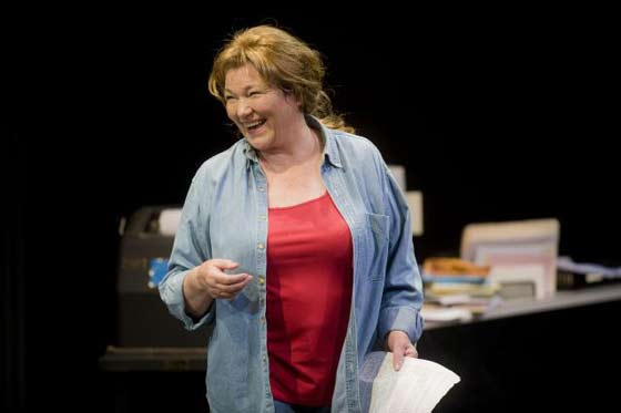 "ina Packer as Molly Ivins in ""Red Hot Patriot: The Kick-Ass Wit of Molly Ivins"" at Shakespeare & Company (photo: Kevin Sprague)"
