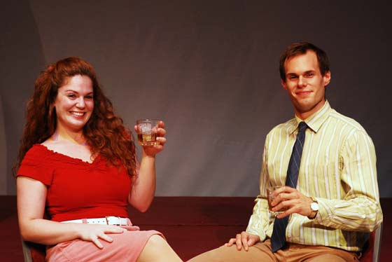 "Rachel Keimach and Tom Garruto in ""I Love You, Your Perfect, Now Change"" at The Theater Barn"