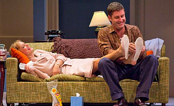 "Rebecca Brooksher and Paul Fitzgerald in ""Period of Adjustment"" (photo by Christy Wright)"