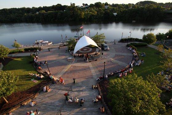 Riverlink Park's new bandshell