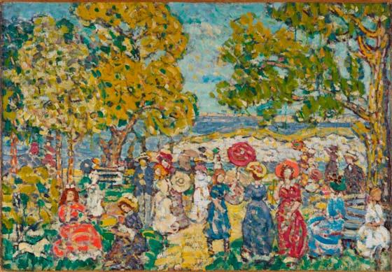Maurice Prendergast: Landscape with Figures