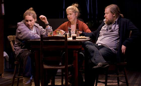 Merritt Wever, Lisa Joyce, Michael Chernus in Touch(ed) (Photos by T. Charles Erickson)