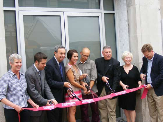 The ribbon cutting ceremony at The Foundry in Cohoes