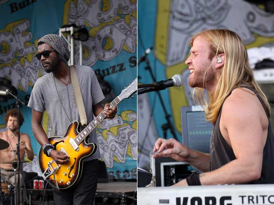 Gary Clark Jr. (left) and The Brew