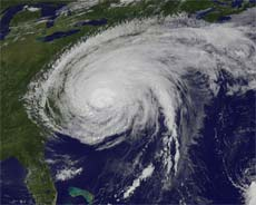 A sight we're tired of: Hurricane Irene (photo by NASA Goddard Space Flight Center)