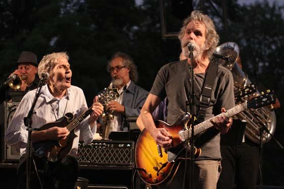 Levon Helm and Bob Weir