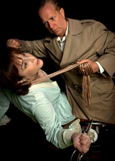 "Both Margot Wendice (Jill Wanderman) and ""Captain Lesgate"" (Neal Berntson) have a weapon and a motive in Dial 'M' for Murder"