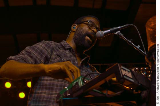TV on the Radio's Kyp Malone performing at Skidmore in October