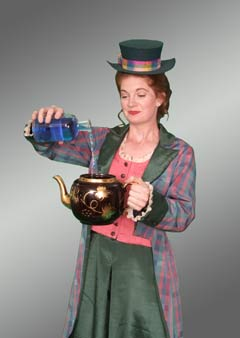 "Heather Davies as JANE Wellington Wells in Valley Light Opera's gender-bending production of Gilbert & Sullivan's ""The Sorcerer.""  (photo: Rick Roy)"