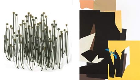 Works by Martha Bone (left) and Bart Gulley @  Architecture for Art