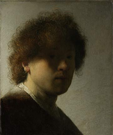 Rembrandt van Rijn: Self-Portrait as a Young Man @ The Clark