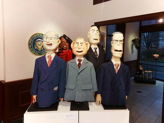 "Cheney, Condi, Bush, Ashcroft, and Rummy from 'Right in the Oval Office"" (photo by Ed Atkeson)"