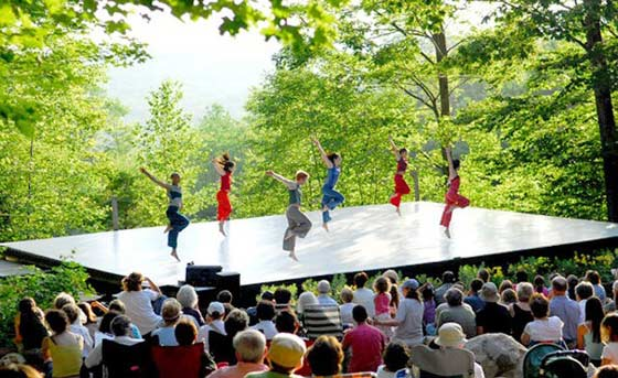 "The ""Inside/Out"" outdoor stage  @ Jacob's Pillow"