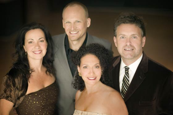 Kim Nazarian (front) with New York Voices