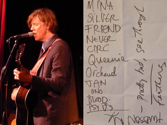 Thurston Moore @ Club Helsinki, 1/27/12 (photo by Kirsten Ferguson)