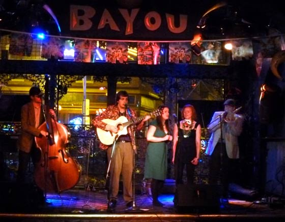 The Sunny Side of the Street Band @ the Bayou Cafe, 2/21/12