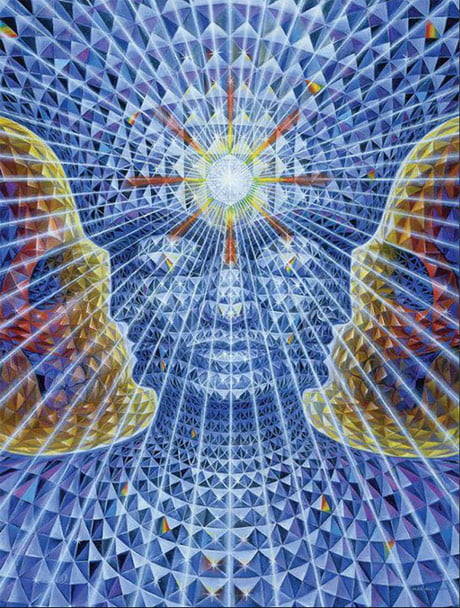 A painting by Alex Grey