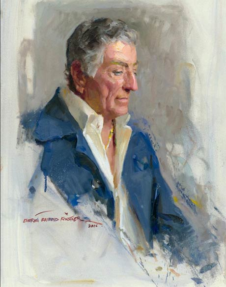 Everett Raymond Kinstler: Portrait of Tony Bennett @ The Norman Rockwell Museum