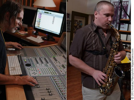 Recording engineer Scott Petitto and Keith Pray