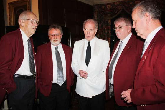 William Kennedy harmonizes with the New Messengers Gospel Quartet