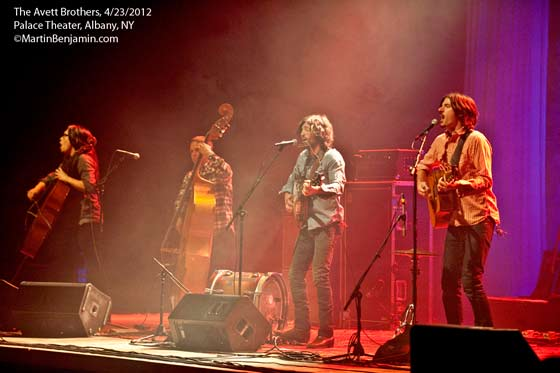 The Avett Brothers @ the Palace Theatre, 4/22/12 (photo by Martin Benjamin)