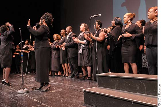 Patty Gordon (choir director), Kim Dixon (lead singer) and the Jubilee Mass Choir