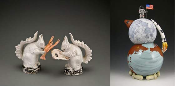Michelle Erickson: Deep Water Squirrels and Kip O'Krongly: Space Race Teapot @ Ferrin Gallery