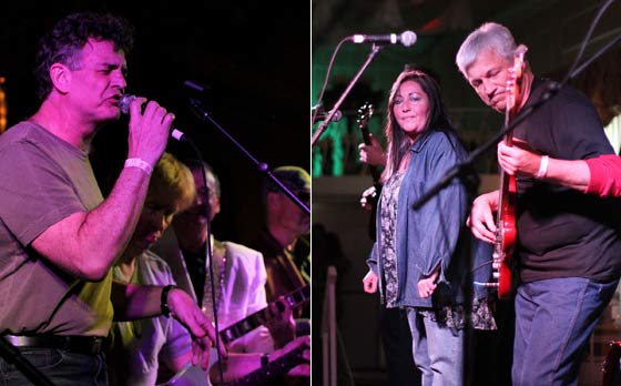 (left) Jim Furlong performing with Blotto and (right) The Penny Knight Band