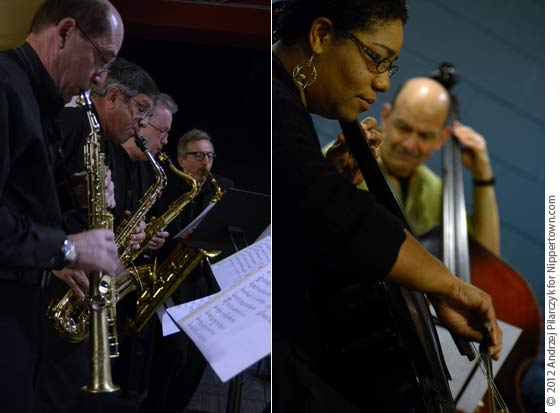(left) Adirondack Sax Quartet and (right) Monica Roach and Ed Torgue