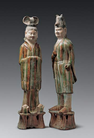 Civilian Official and Military Officer, Tang Dynasty @ The Clark