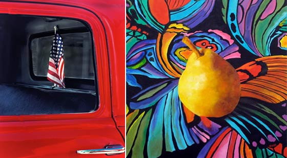 Paintings by Connie Bush and Marina Petro @ Flores Gallery`