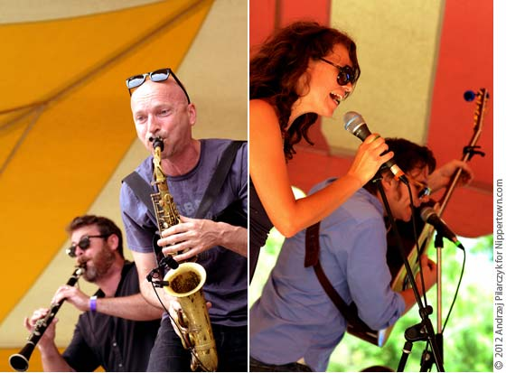 (left) Balkan Beat Box and (right) Sarah Lee Guthrie and Johnny Iron