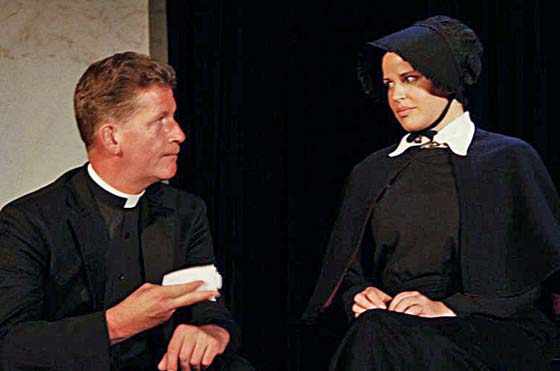 Father Flynn (Patrick White) and Sister James (Clover Bell-Devaney)  (Photo: Arianne Stuerzel)