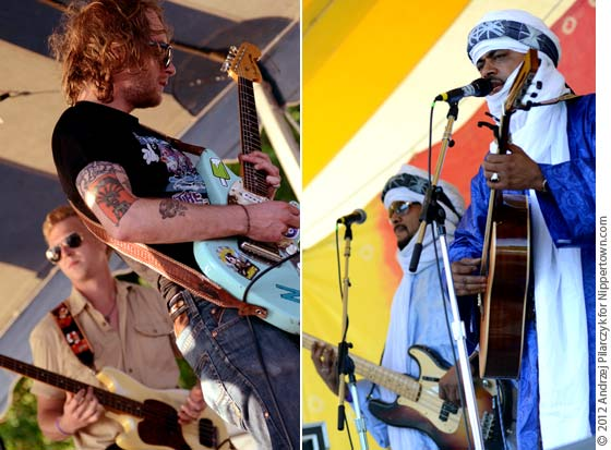 (left) Deer Tick and (right) Tinariwen