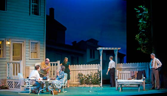 The cast and setting for All My Sons (photo: Kevin Sprague)