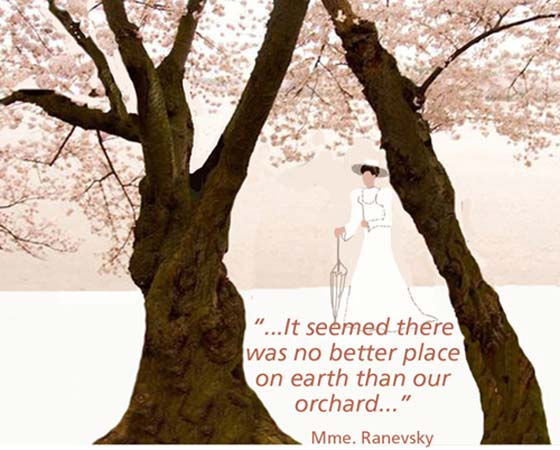 Walking the dog Theatre presents Checkov's The Cherry Orchard from July 5-22 at PS21 in Chatham, NY.